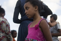 Somali girl at the Messina harbour